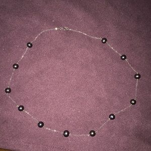 925 black pearl necklace